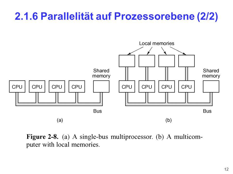 2.1.6 Parallelität auf Prozessorebene (2/2)