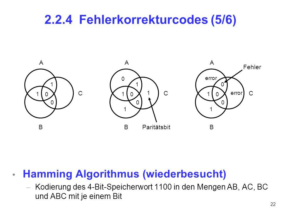 2.2.4 Fehlerkorrekturcodes (5/6)
