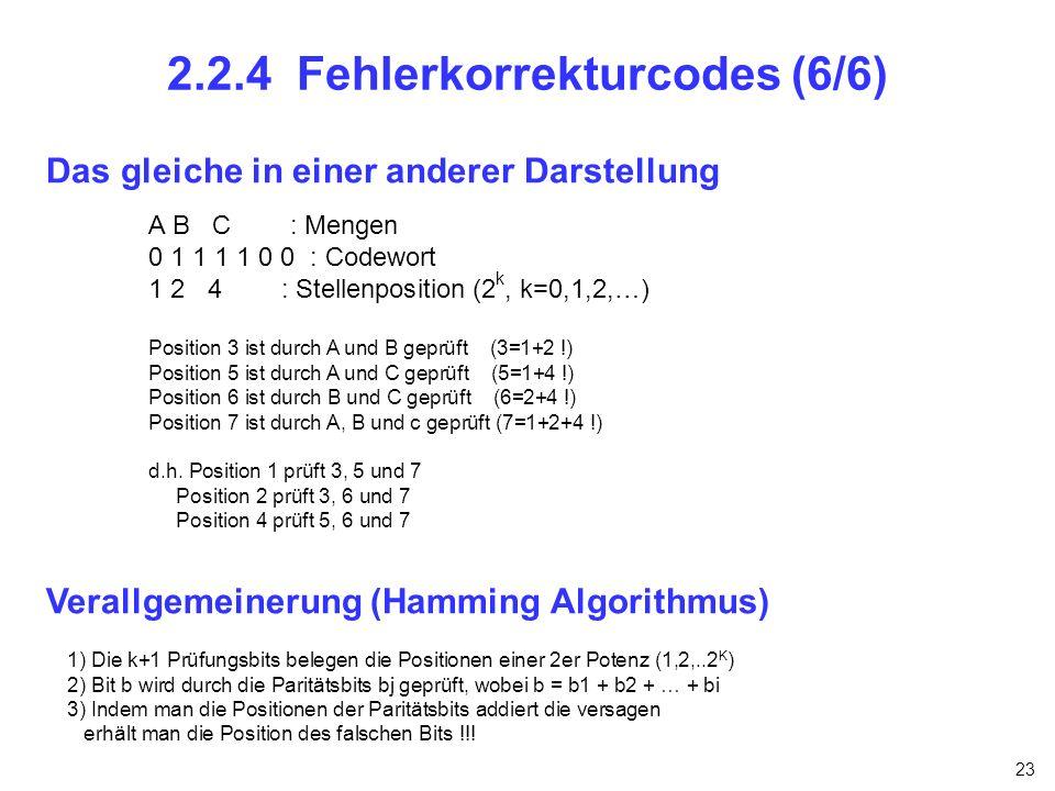 2.2.4 Fehlerkorrekturcodes (6/6)
