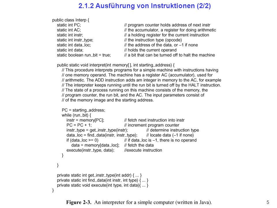 2.1.2 Ausführung von Instruktionen (2/2)