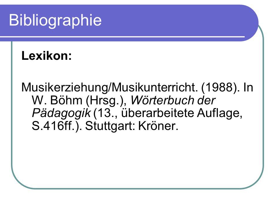 Bibliographie Lexikon: