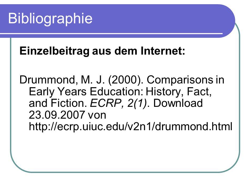 Bibliographie Einzelbeitrag aus dem Internet: