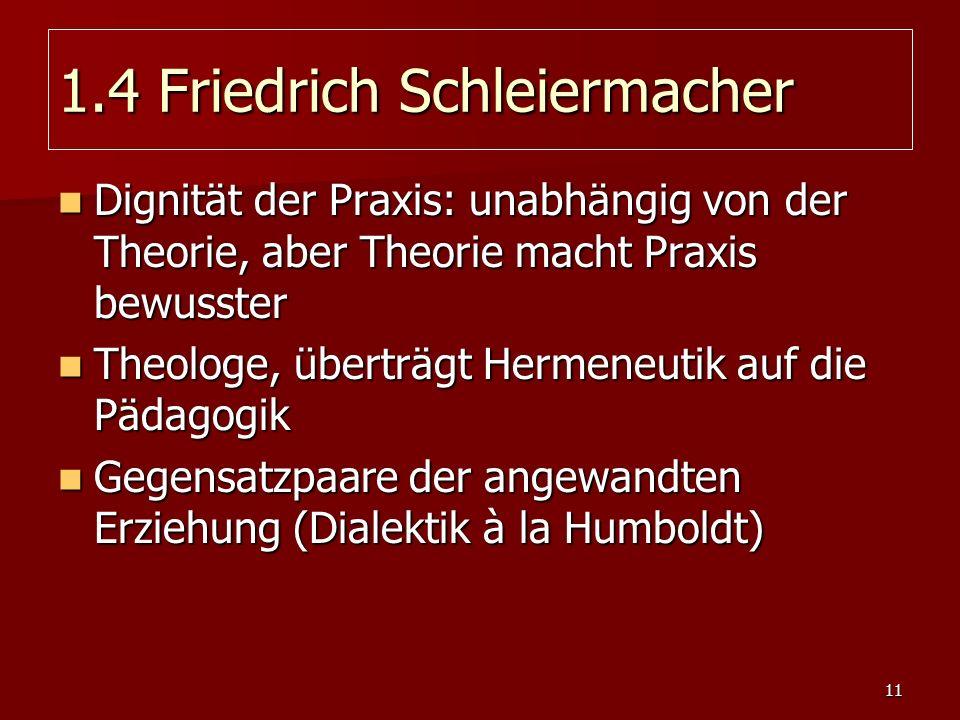 1.4 Friedrich Schleiermacher