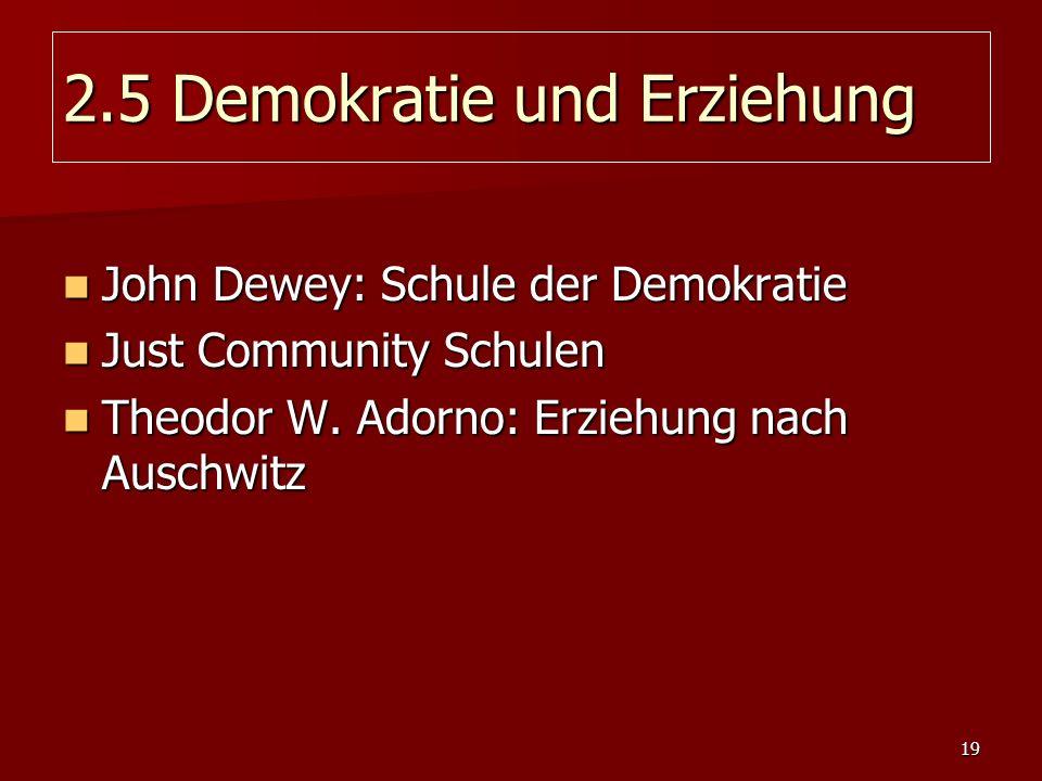 2.5 Demokratie und Erziehung