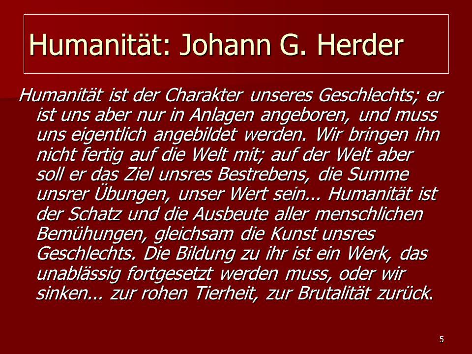 Humanität: Johann G. Herder