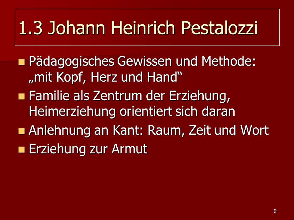 1.3 Johann Heinrich Pestalozzi