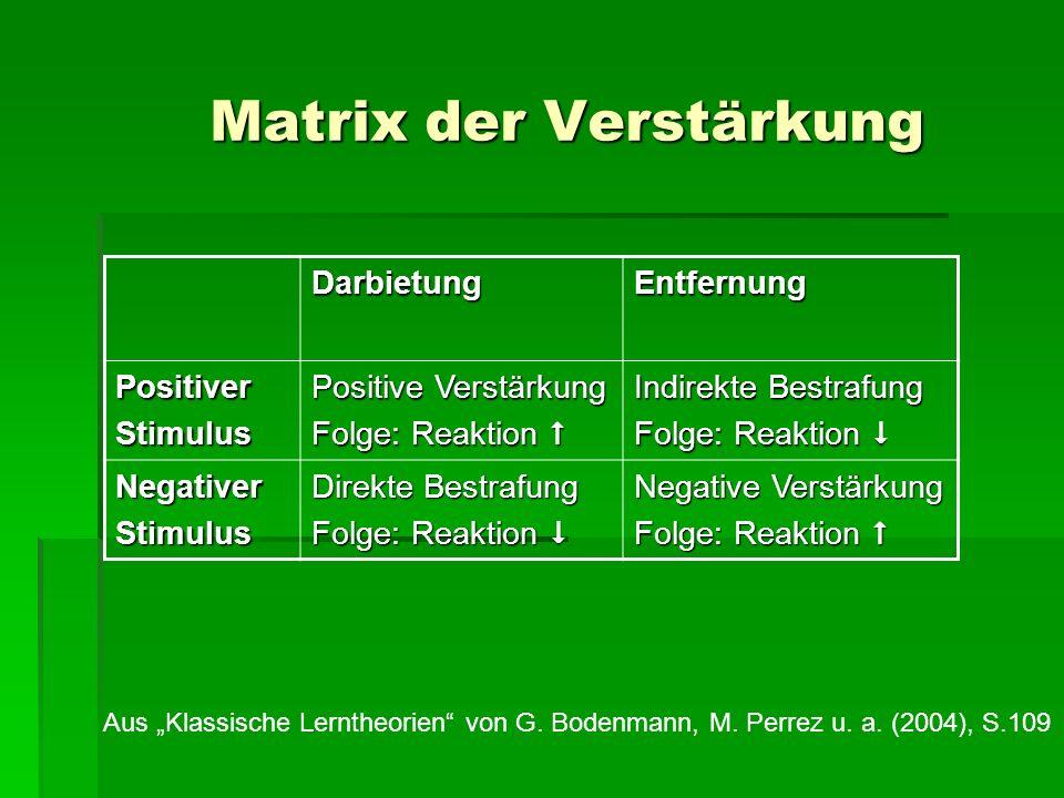 Matrix der Verstärkung