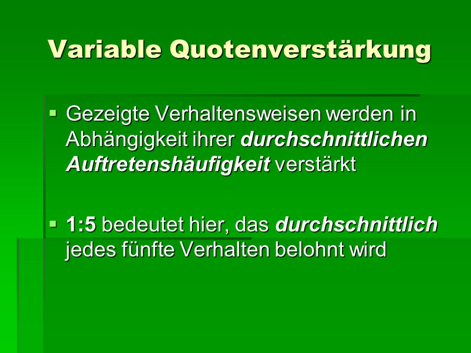 Variable Quotenverstärkung