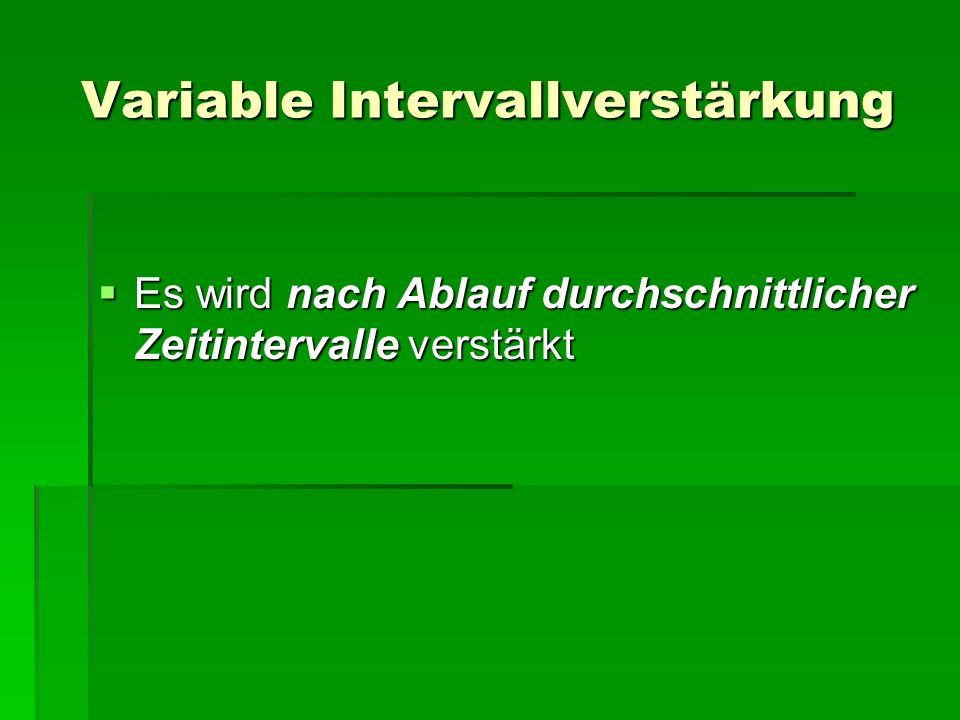 Variable Intervallverstärkung