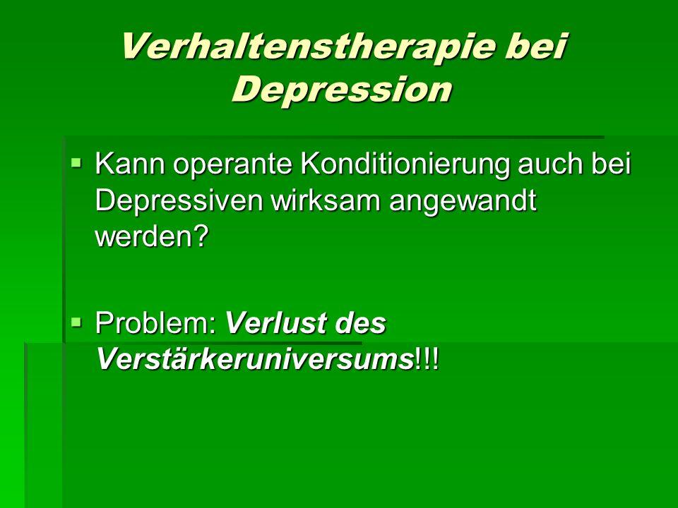 Verhaltenstherapie bei Depression