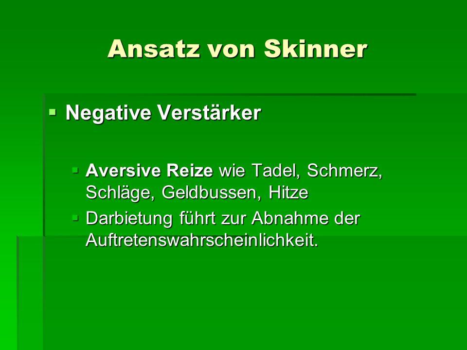 Ansatz von Skinner Negative Verstärker