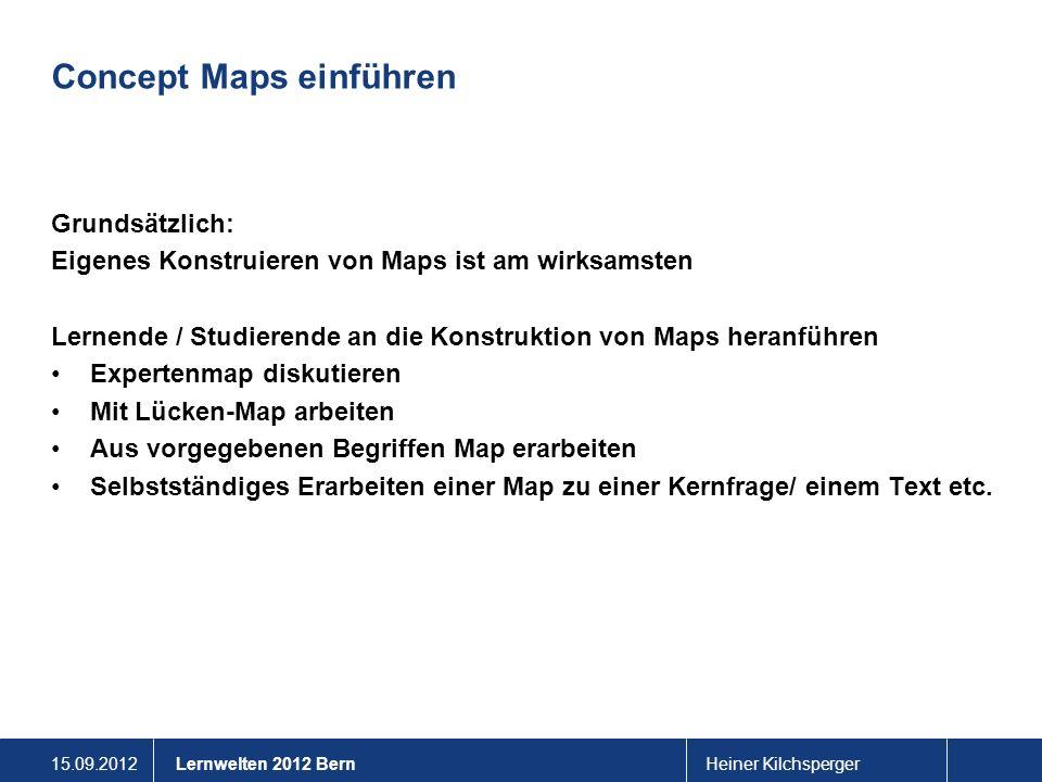 Concept Maps einführen