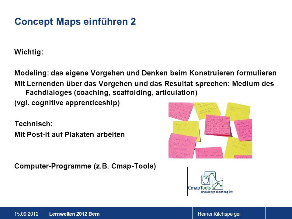 Concept Maps einführen 2