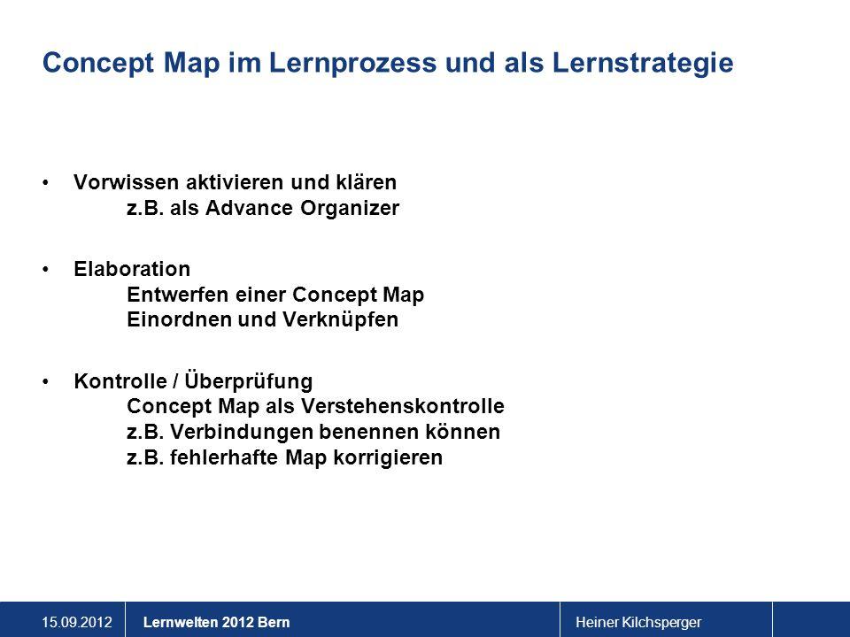 Concept Map im Lernprozess und als Lernstrategie