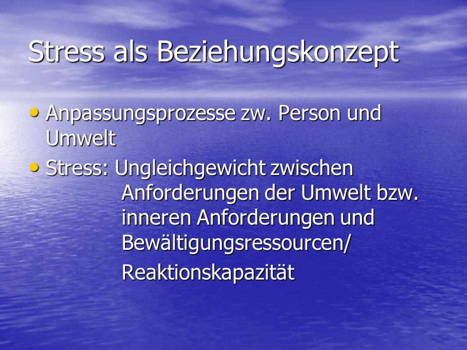 Stress als Beziehungskonzept