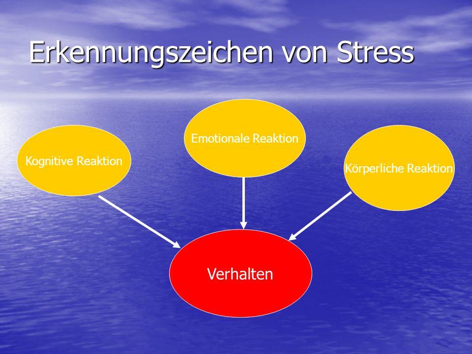 Erkennungszeichen von Stress