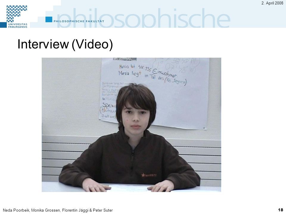 Interview (Video) 2. April 2008