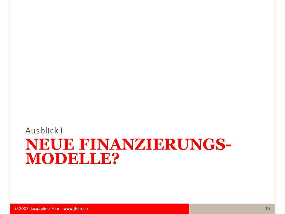 Neue Finanzierungs-modelle