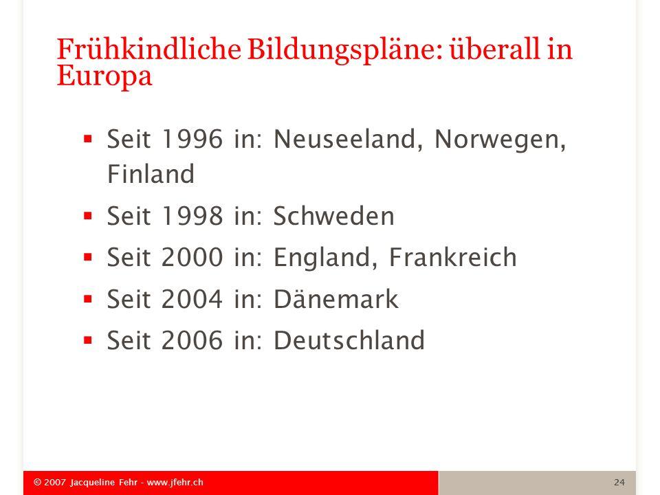 Frühkindliche Bildungspläne: überall in Europa