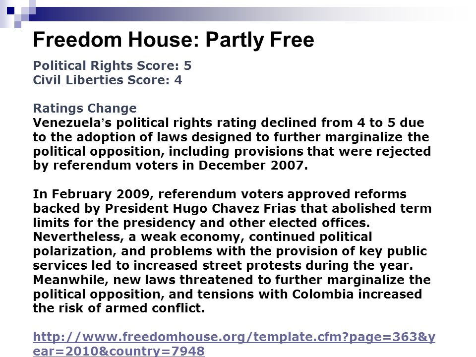 Freedom House: Partly Free