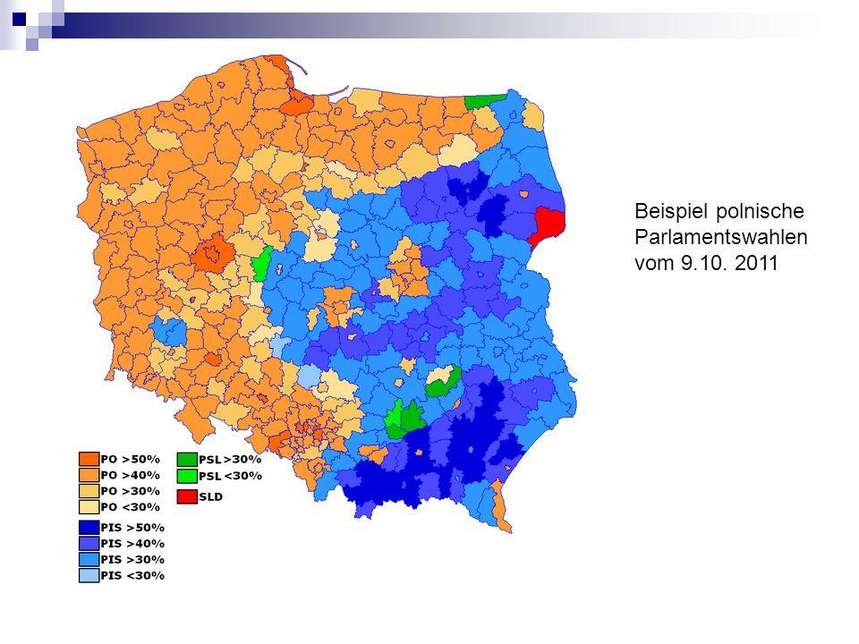 Beispiel polnische Parlamentswahlen vom 9.10. 2011