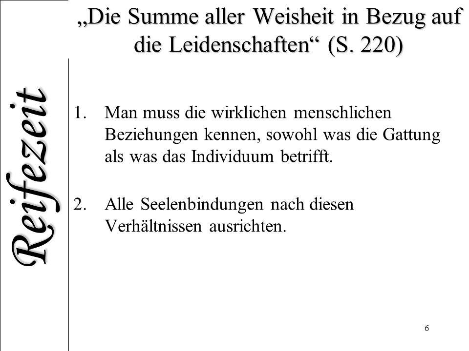 """""""Die Summe aller Weisheit in Bezug auf die Leidenschaften (S. 220)"""
