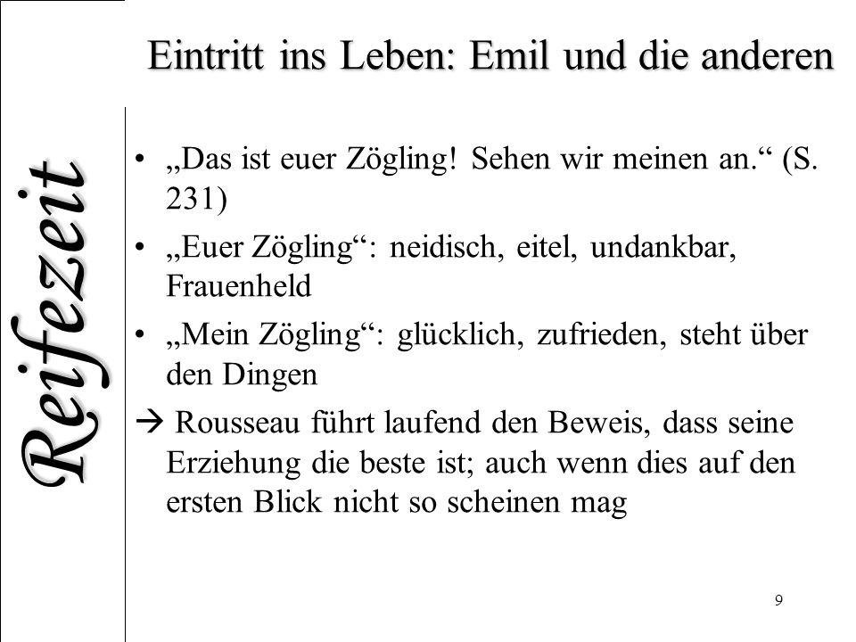 Eintritt ins Leben: Emil und die anderen