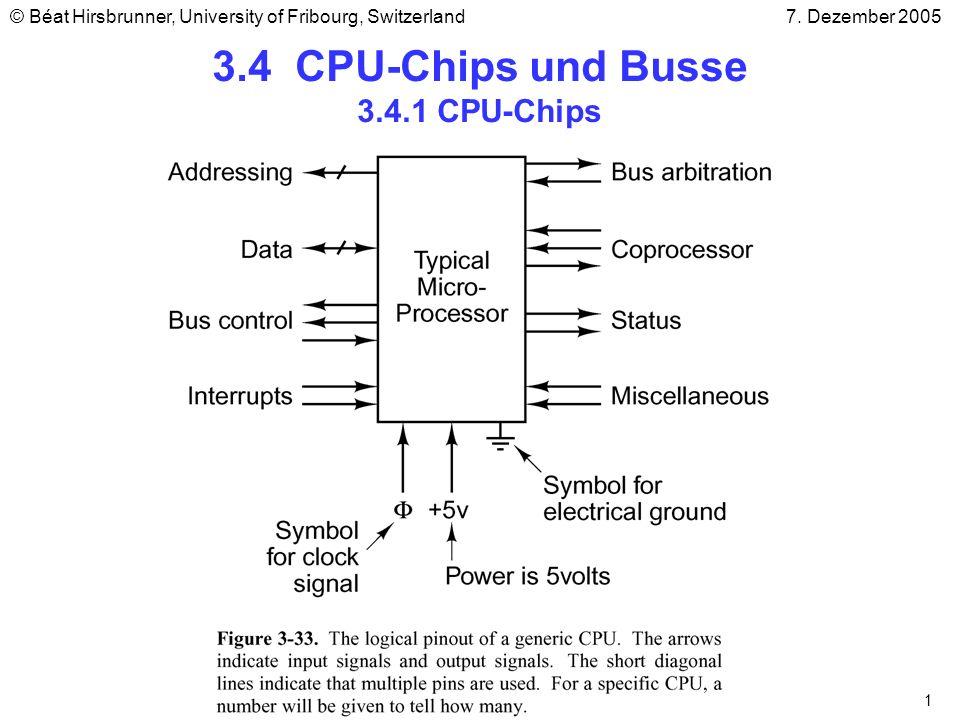 3.4 CPU-Chips und Busse 3.4.1 CPU-Chips