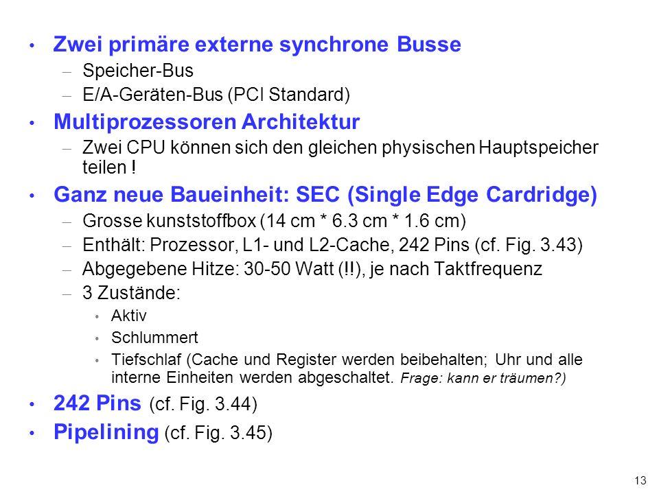 Zwei primäre externe synchrone Busse