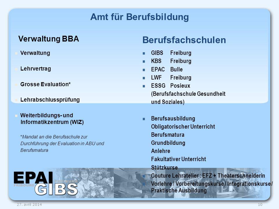 Amt für Berufsbildung Berufsfachschulen Verwaltung BBA GIBS Freiburg
