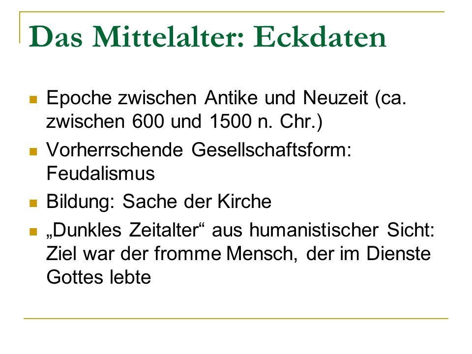 Das Mittelalter: Eckdaten