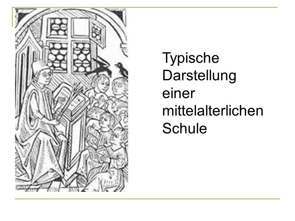 Typische Darstellung einer mittelalterlichen Schule