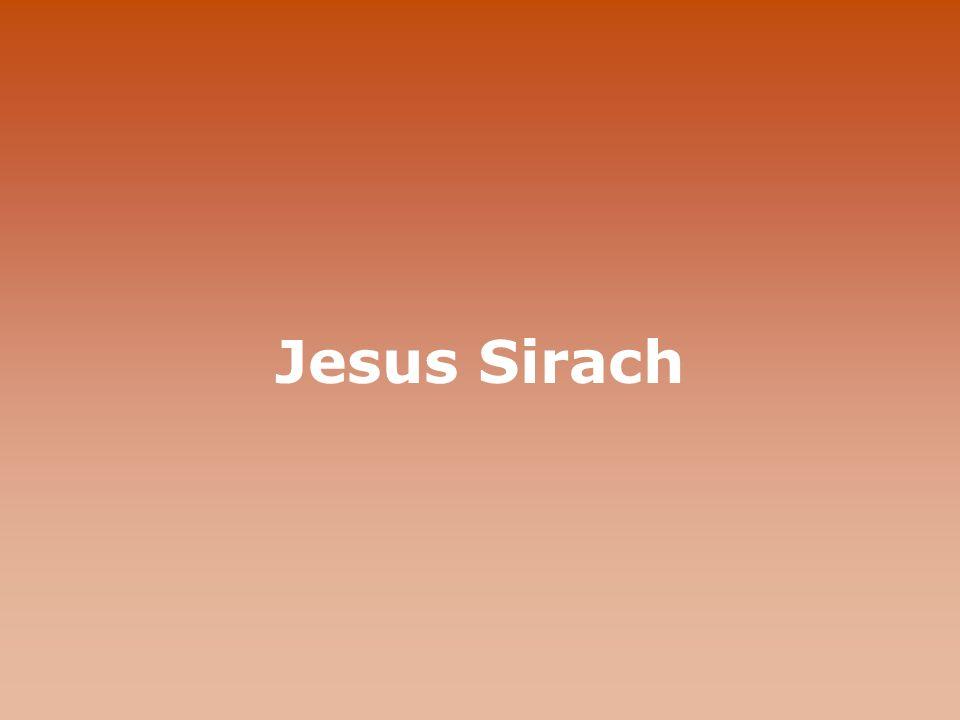 Jesus Sirach Sirach
