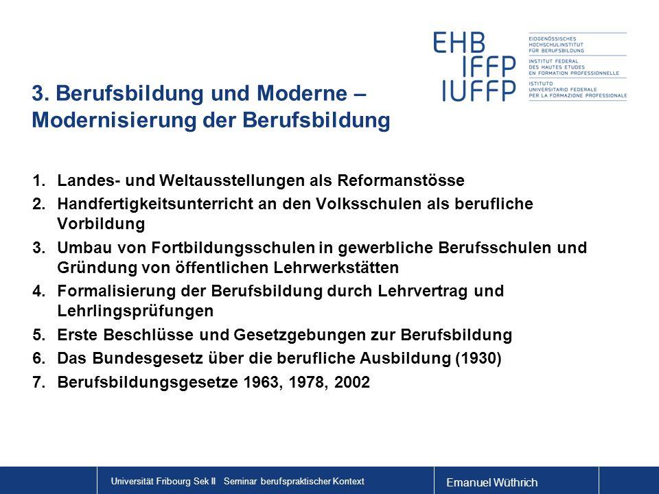 3. Berufsbildung und Moderne – Modernisierung der Berufsbildung