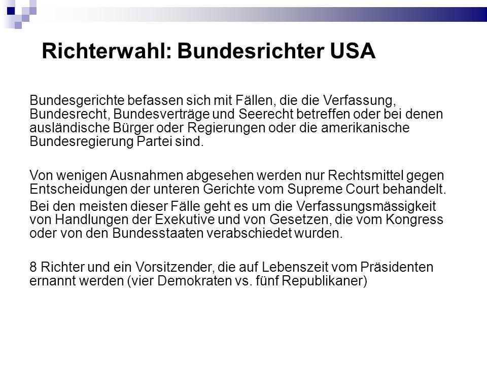 Richterwahl: Bundesrichter USA