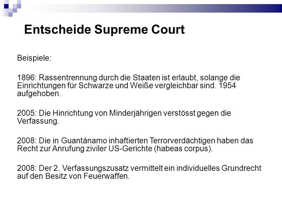 Entscheide Supreme Court