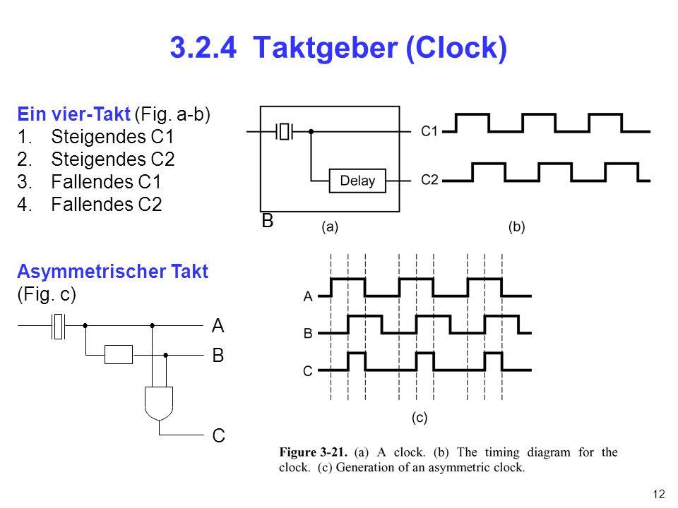 3.2.4 Taktgeber (Clock) Ein vier-Takt (Fig. a-b) Steigendes C1