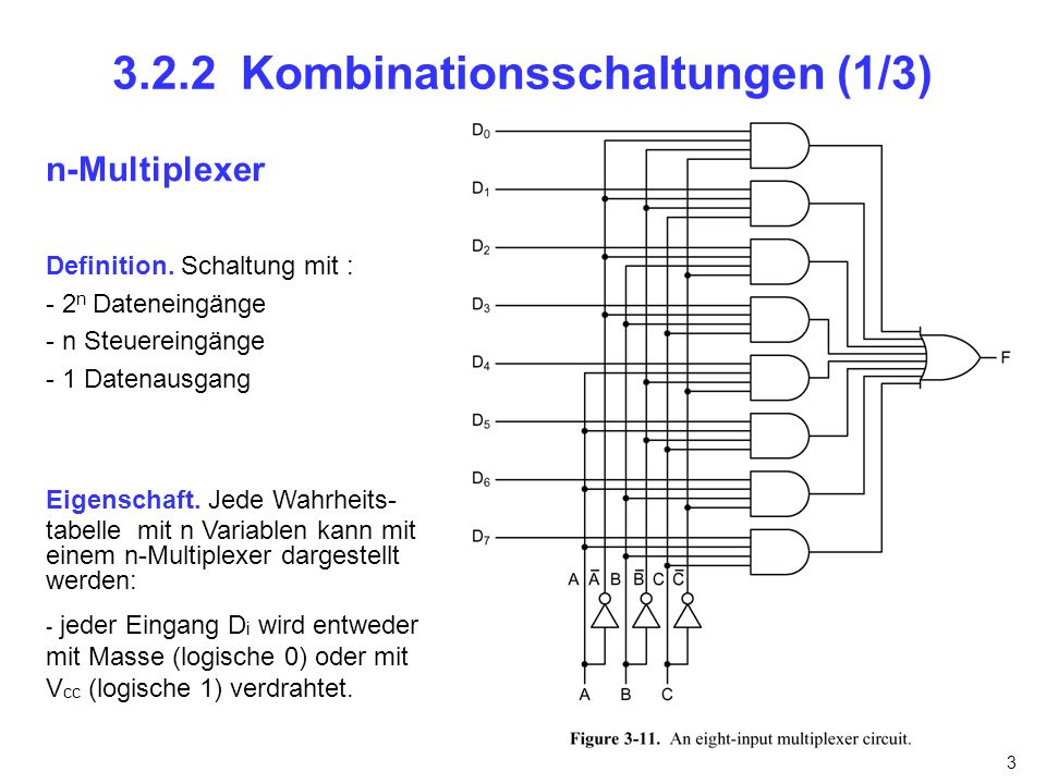 3.2.2 Kombinationsschaltungen (1/3)