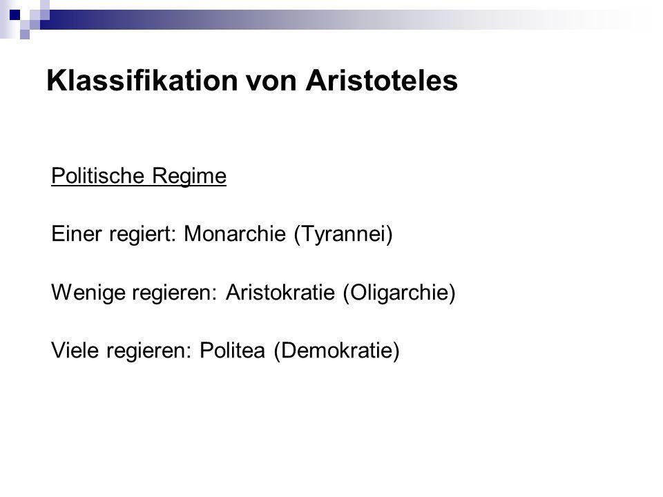 Klassifikation von Aristoteles