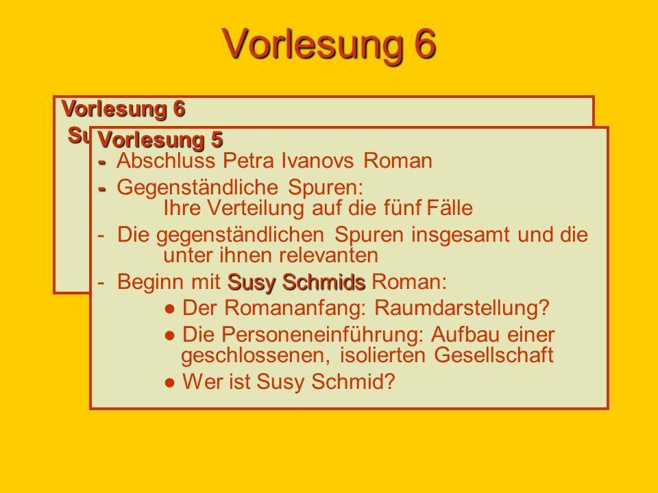 """Vorlesung 6 Vorlesung 6 Susy Schmids Roman """"Das Wüste lebt :"""