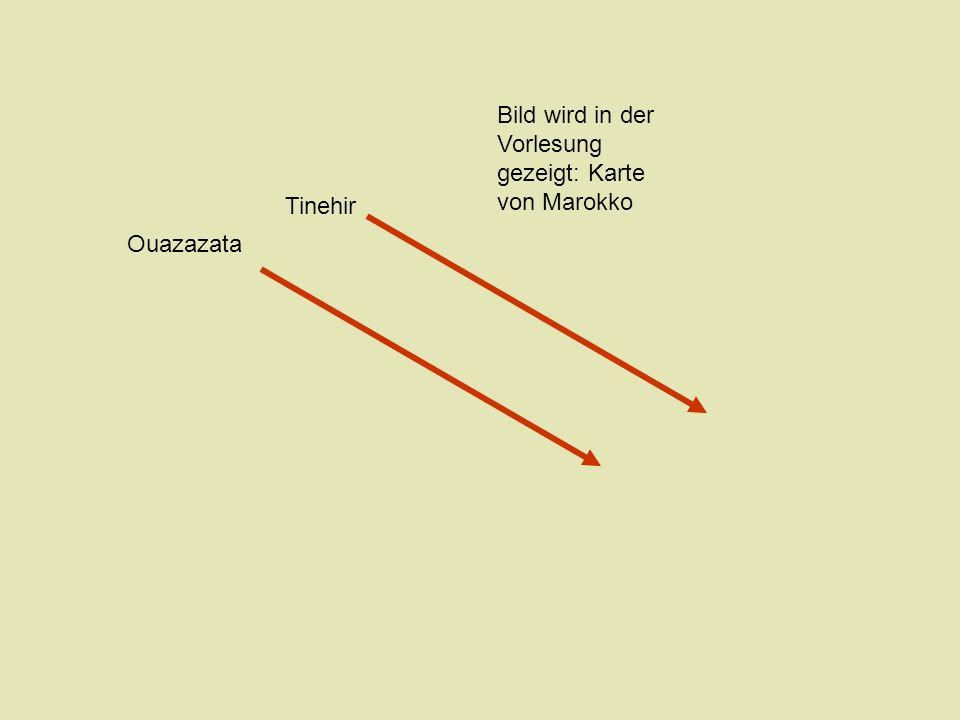 Bild wird in der Vorlesung gezeigt: Karte von Marokko