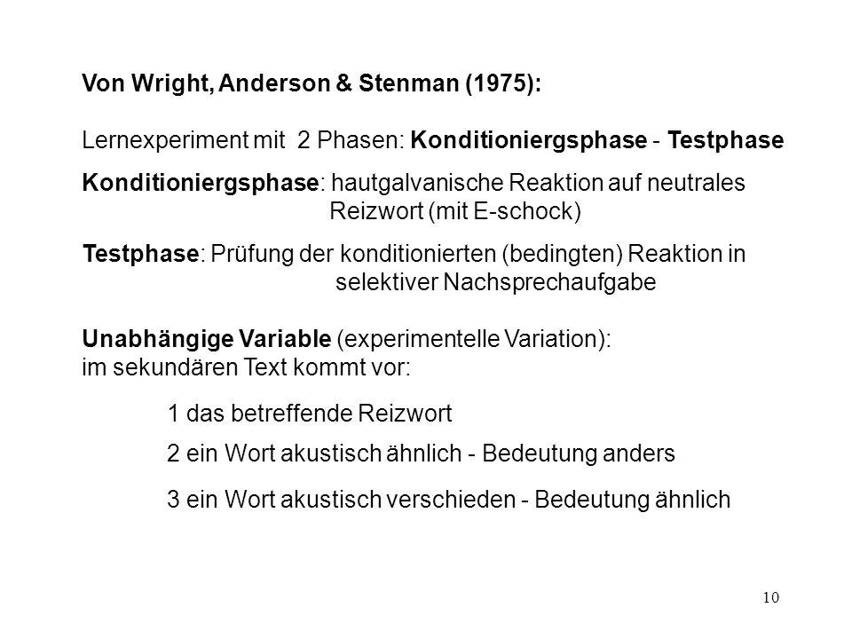 Von Wright, Anderson & Stenman (1975):