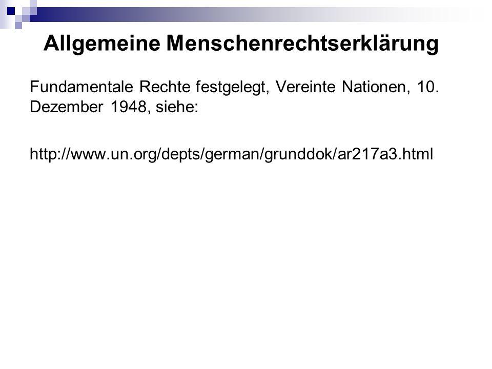 Allgemeine Menschenrechtserklärung