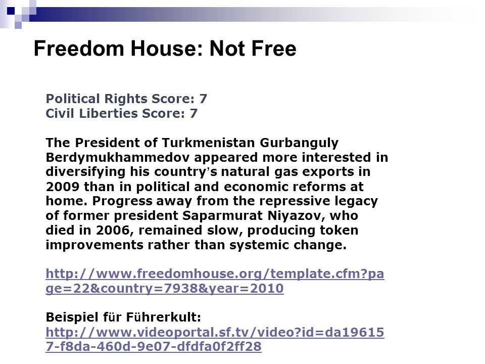 Freedom House: Not Free