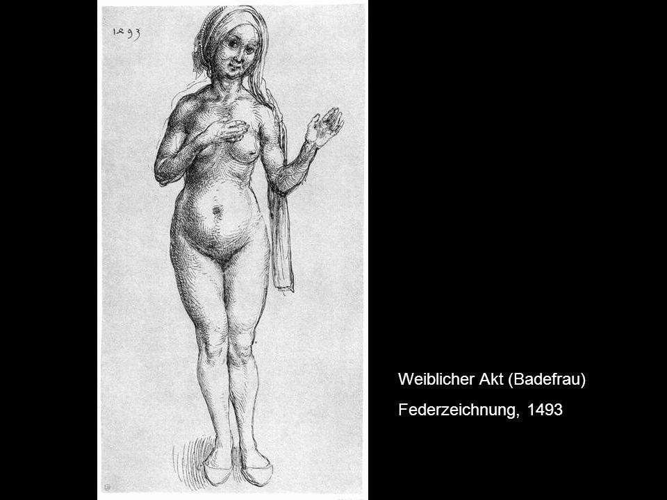 Weiblicher Akt (Badefrau)