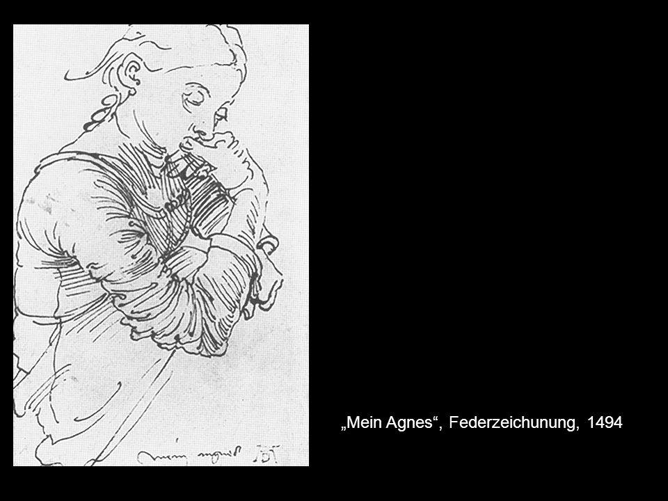 """Mein Agnes , Federzeichunung, 1494"
