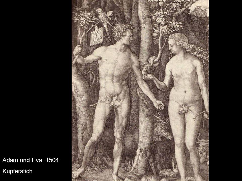 Adam und Eva, 1504 Kupferstich