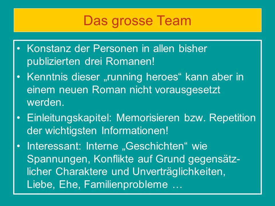 Das grosse Team Konstanz der Personen in allen bisher publizierten drei Romanen!
