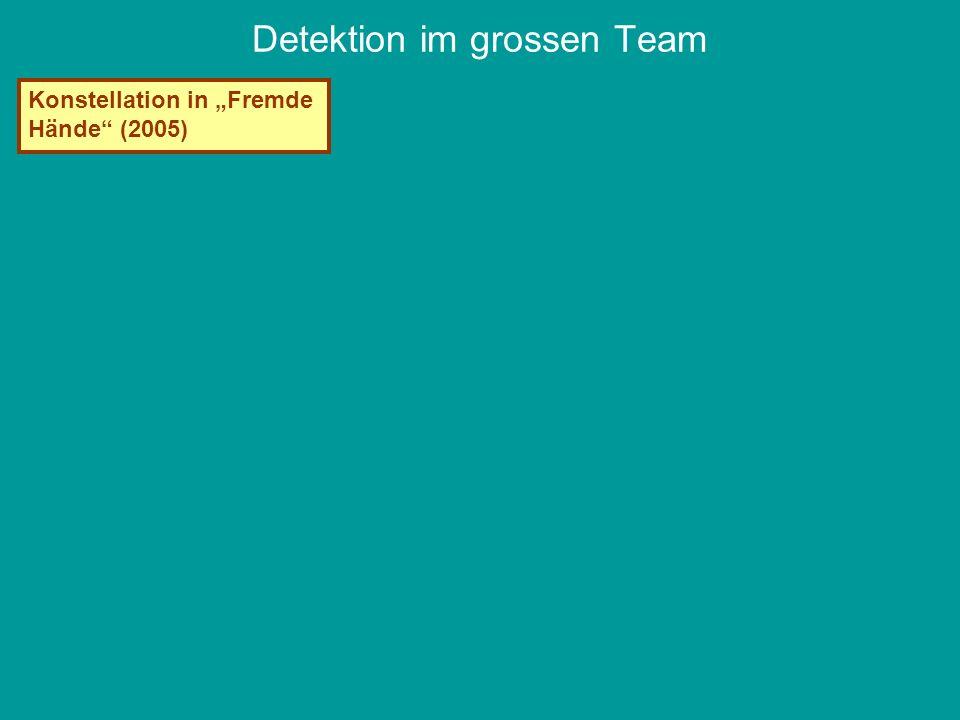 Detektion im grossen Team