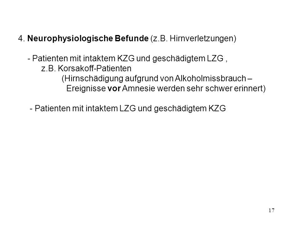 4. Neurophysiologische Befunde (z.B. Hirnverletzungen)